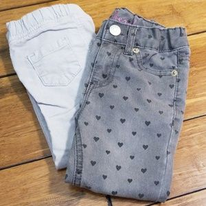 Cherokee & Carter's Grey Pants Bundle 2 Pairs